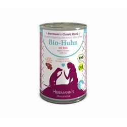 Herrmanns Bio Hundefutter Huhn Menu 1 mit Reis, Karotte
