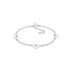 Elli Armband Kinder Herzen Rosa Kristalle Silber