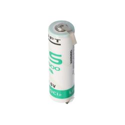 Saft SAFT LS14500CNR Lithium Batterie mit U-Form Lötfah Batterie