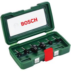 BOSCH Fräser-Set , 6-tlg., 6 mm Schaft grün