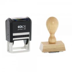Zahnarztstempel Adresse Holzstempel / Colop Printer 35 (50x30 mm - 6