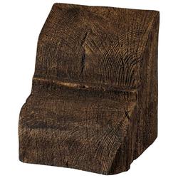 HOMESTAR Deko-Konsole 20 x 13 cm, für Deckenbalken, Holzimitat, Eiche dunkelbraun braun