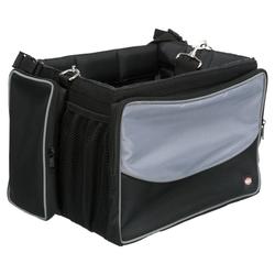 Trixie Fahrrad Front-Box für Hunde schwarz/grau