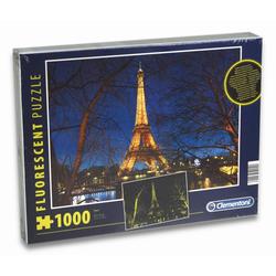 Clementoni® Steckpuzzle Puzzle - Paris (fluoreszierend, 1000 Teile), 1000 Puzzleteile