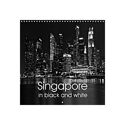 Singapore in Black and White (Wall Calendar 2021 300 × 300 mm Square)