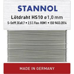 Stannol HS10 Lötzinn, bleifrei bleifrei Sn0.7Cu 30g 1mm