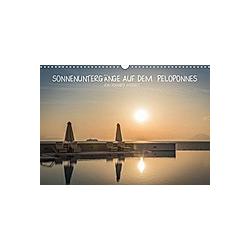 Sonnenuntergänge auf dem Peloponnes (Wandkalender 2021 DIN A3 quer)
