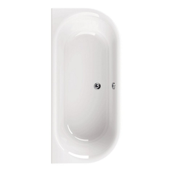 aquaSu Badewanne, (1-tlg), Weiß, 180 x 80 cm, Acryl, Duobadewanne Duobadewanne - 80 cm x 40 cm x 180 cm