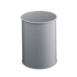 Papierkorb Metall rund 15l grau