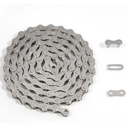 RV-Parts Fahrradkette Fahrradkette 1/2 x 1/8 Zoll 112 Glieder + Schloss