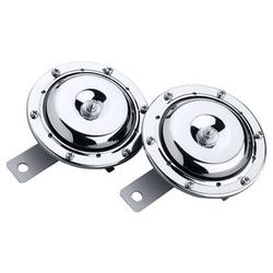 Doppelhupe 12V, Chrom 3A, 110 dB, E-Prüfzeichen