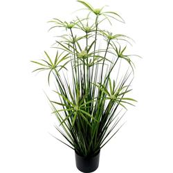 Kunstpflanze Zyperngras im Topf, I.GE.A., Höhe 90 cm 28 cm x 90 cm x 28 cm