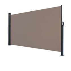 FCH Seitenmarkise Seitenmarkise Seitenwandmarkise Markise Sichtschutz Windschutz Sonnenschutz Balkon 300x180cm braun 300 cm x 180 cm