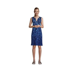 Strandkleid Print, Damen, Größe: M Normal, Blau, Jersey, by Lands' End, Tiefsee Meerestiere - M - Tiefsee Meerestiere