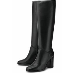 Klassische Stiefel Leder-Stiefel COX schwarz