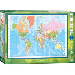 empireposter Puzzle Moderne Weltkarte - Modern Map of the World - 1000 Teile Puzzle Format 68x48 cm, 1000 Puzzleteile