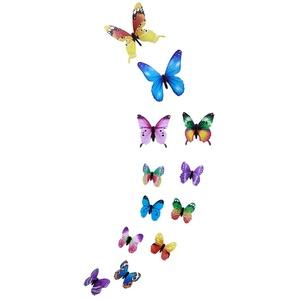 Harpily 12 StüCk Wandsticker Schmetterling Leuchtend Wandbilder Deko Aufkleber Schmetterling Wandtattoos Applikationen Wohnzimmer Kunst Wanddeko Schmetterling Magnetisch Wall Stickers (Mehrfarbig)