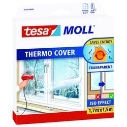 tesa Moll Fensterfolie Isolierfolie Thermo Cover transparent, 1,7 x 1,5 m