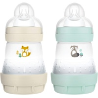 MAM Babyflasche MAM Easy Start Elements, 160 ml, Fuchs/Waschbär,