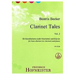 Clarinet Tales  Vol. 2  für Bassklarinette (oder Klarinette) und Klavier. Beatrix Becker  - Buch