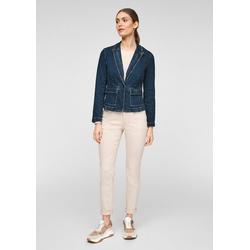 Comma Jeansjacke Taillierter Blazer aus Jeans Waschung 44