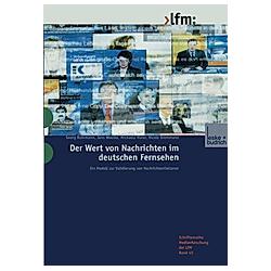 Der Wert von Nachrichten im deutschen Fernsehen - Buch