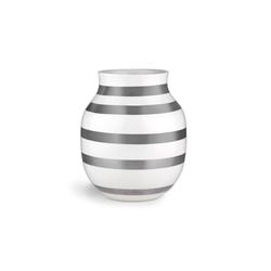 Kähler Tischvase Vase Omaggio M silber-weiß