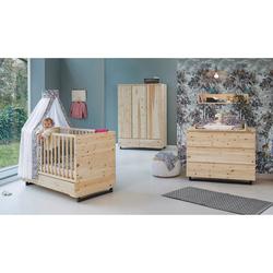 Schardt 3-tlg. Babyzimmer Zirbenholz mit 3-türigem Kleiderschrank
