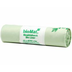 BIOMAT kompostierbare Bioabfallbeutel  40-60L 61x80cm, 10 Stk.