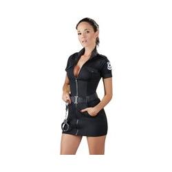 Kleid im Polizistinnen-Look mit Gürtel