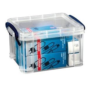 Really Useful Box Aufbewahrungsbox 1,6 l transparent 19,5 x 13,5 x 11,0 cm