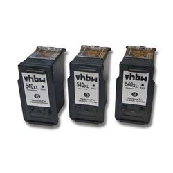 vhbw 3x Druckerpatronen Tintenpatronen Set für Canon Pixma MG4140, MG4150, MG4250 wie Canon PG-540, PG-540XL.
