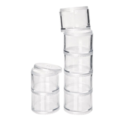 VBS Aufbewahrungsbox Dosenturm, Kunststoff, (7-tlg), 7-tlg