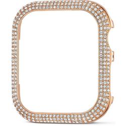 Swarovski Smartwatch-Hülle 40 mm Sparkling Gehäuserahmen passend zur Apple Watch ®, roséfarben, 5572574, silberfarben, 5572573 Watch, mit Swarovski® Kristallen rosa
