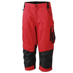 Workwear 3/4 Bundhose CORDURA® - (red/black) 42