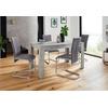 Homexperts Essgruppe Nick3-Mulan, (Set, 5-tlg), mit 4 Stühlen, Tisch in Beton-Optik, Breite 140 cm grau