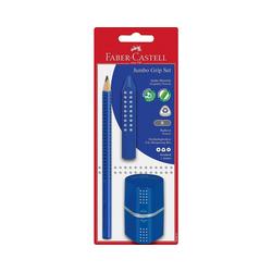 Faber-Castell Bleistift Bleistiftset JUMBO GRIP blau, 3-tlg., inkl.