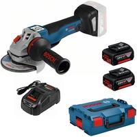 Bosch GWS 18V-10 C Professional inkl. 2 x 5,0 Ah + L-Boxx 06019G310D