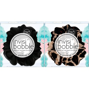 Invisibobble, SPRUNCHIE, Scrunchie-Haargummi (2-tlg.) schwarz 2-tlg. Set