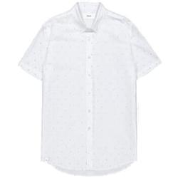 Makia - Anchors SS Shirt White - Hemden - Größe: M