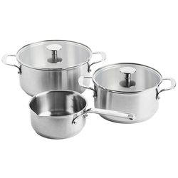 KitchenAid Stainless Steel 3-teiliges Kochtopfset