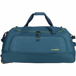 Travelite Basics XL 2-Rollen Reisetasche 78 cm zusammenrollbar petrol limone