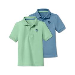 Tchibo - 2 Jersey-Poloshirts - Blau - Kinder - Gr.: 110/116
