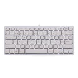 R-Go Compact Tastatur, QWERTY (ES), weiß, drahtgebundenen