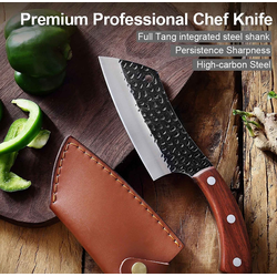Muxel Kochmesser Multifunktionales Küchenmesser und Outdoormesser,
