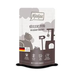 MjAMjAM - Premium Nassfutter für Katzen - Quetschie - köstliches Pferd an gedämpftem Kürbis