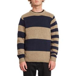 Volcom - Edmonder Striped Sweater Khaki - Sweatshirts - Größe: M