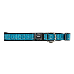 Hundehalsband Safe & Soft blau, Breite: ca. 35 mm, Länge: ca. 50 - 55 cm - ca. 50 - 55 cm