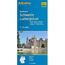 Bikeline Radkarte Schwerin  Ludwigslust - Buch