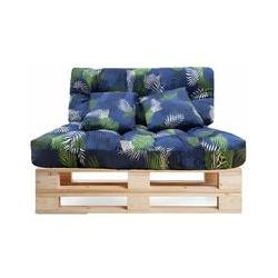 Lot de 4 coussins pour canapé Paleta Indoor/Outdoor - Assise 120 x 80 x 10 cm + Dossier 120 x 50 x